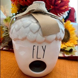 "NEW Rae Dunn Acorn ""FLY"" Birdhouse"
